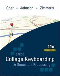 Gregg College Keyboarding & Document Processing (GDP); Lessons 1-120, main text by Scot Ober image
