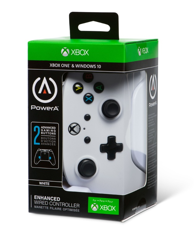 Xbox One Enhanced Wired Controller - White for Xbox One
