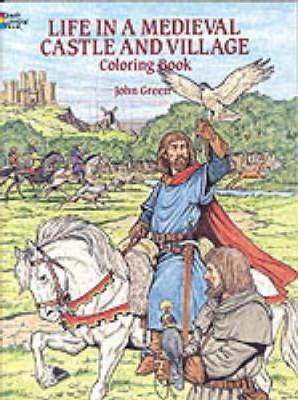 Life in a Medieval Castle Coloring Book by John Green image