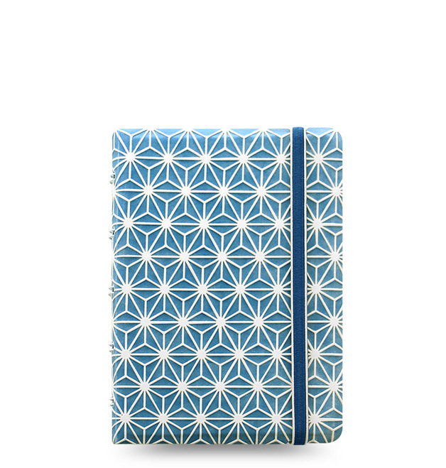 Filofax - Pocket Notebook - Impressions (Blue & White)