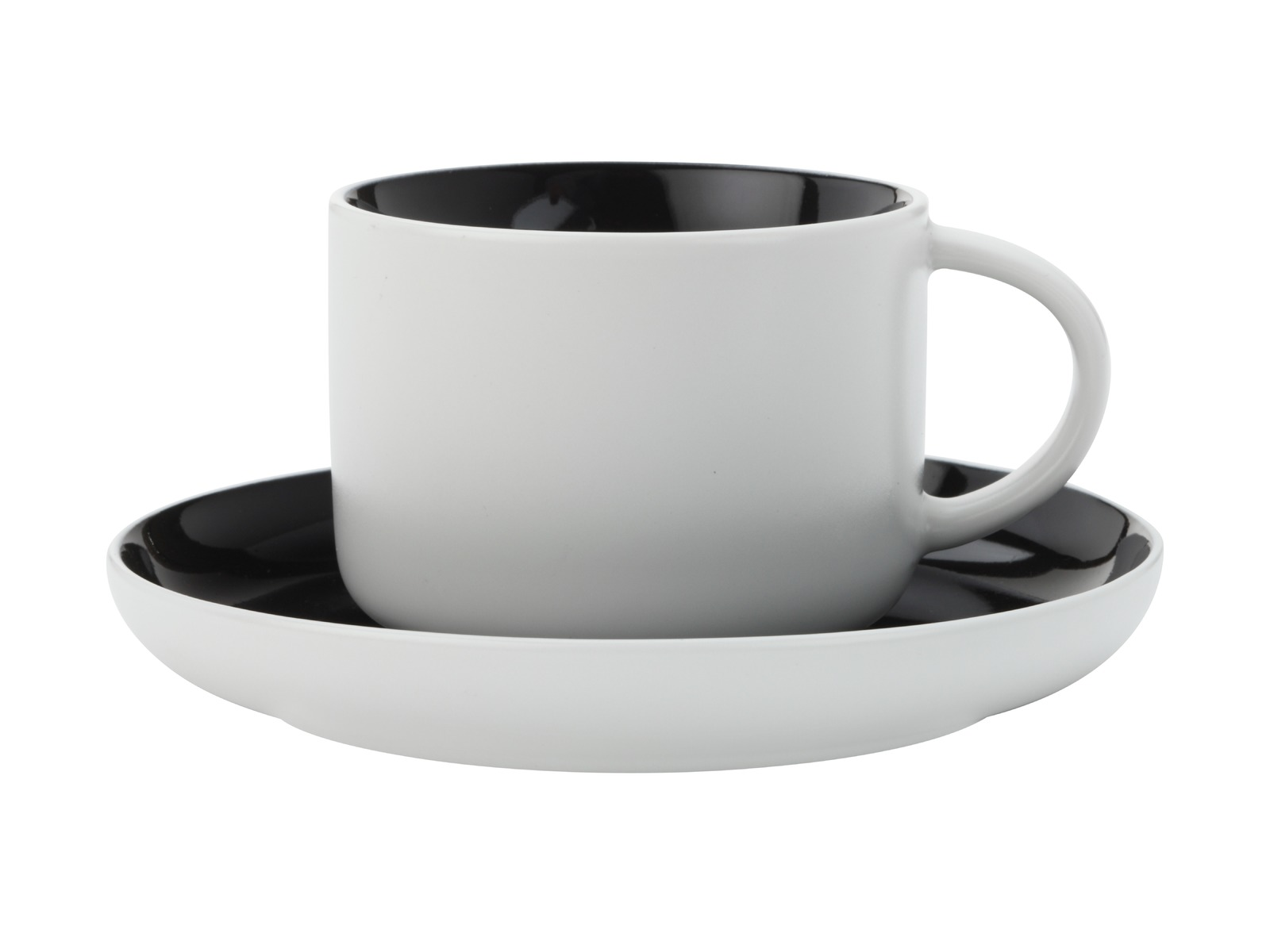 Maxwell & Williams - Tint Tea Cup & Saucer Black (250ml) image