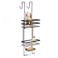 Black Onyx: Overscreen Shower Caddy (2 Shelves)