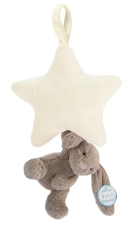 Jellycat: Bashful Beige Star - Musical Pull Plush