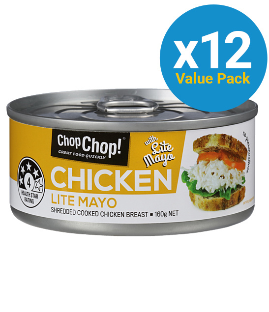 Chop Chop: Shredded Chicken with Lite Mayo 160g (12 Pack) image