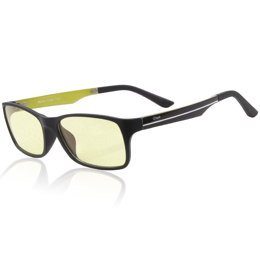 Duco Ergonomic Advanced Gaming Glasses (Yellow) for PC Games image