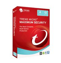 Trend Micro: Maximum Security 2017 - (1-4 Devices) 1 Year OEM (No CD Media)