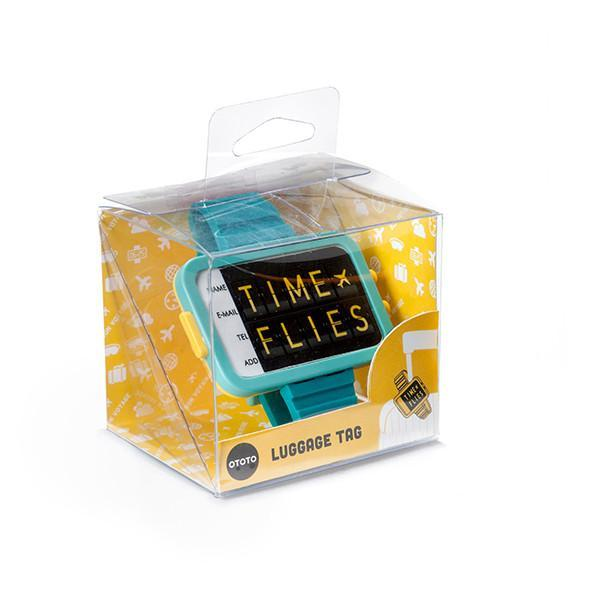 Time Flies Luggage Tag (Turquoise)