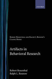 Artifacts in Behavioral Research by Robert Rosenthal image