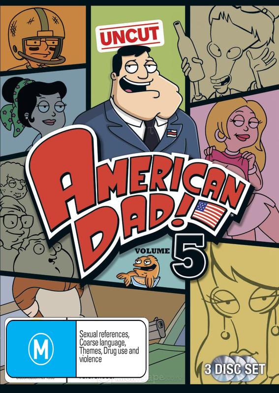 American Dad! - Volume 5 (3 Disc Set) on DVD