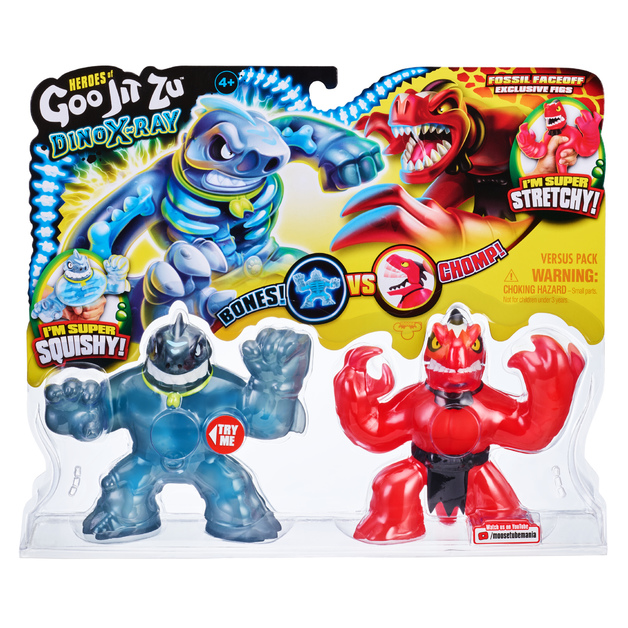 Heroes Of Goo Jit Zu: Dino X-Ray Versus Pack - Fossil Faceoff
