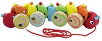 VIGA Wooden Toys - Pull Along Worm