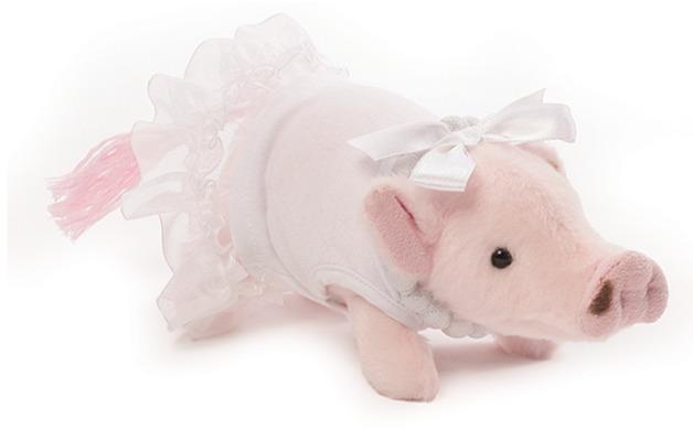 Prissy Pig: Formal Plush - White Dress