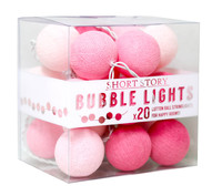 Cotton Ball String LED Lights - Pink Sakura