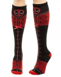 Marvel: Deadpool Suitlaceup Knee High Socks