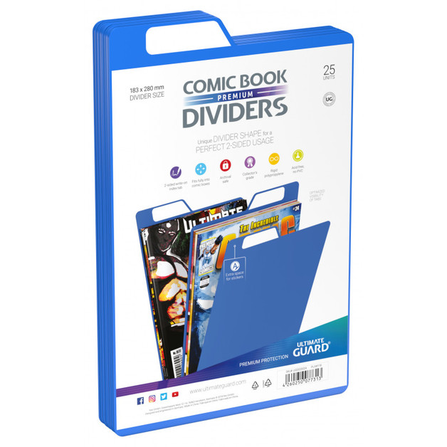 Ultimate Guard: Premium Comic Dividers - Blue (25-Pack)