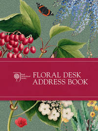 RHS Floral Desk Address Book by Royal Horticultural Society