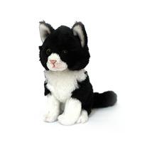 Cat: Milla Junior Sitting Blk White Cat 15Cm