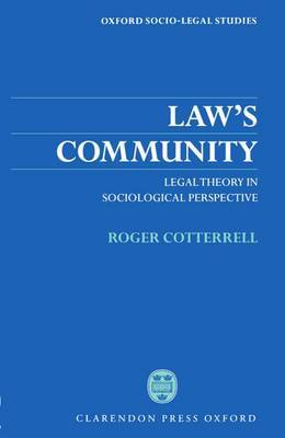Law's Community by Roger Cotterrell image