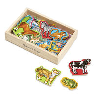 Melissa & Doug: Wooden Magnetic Animals in Box image