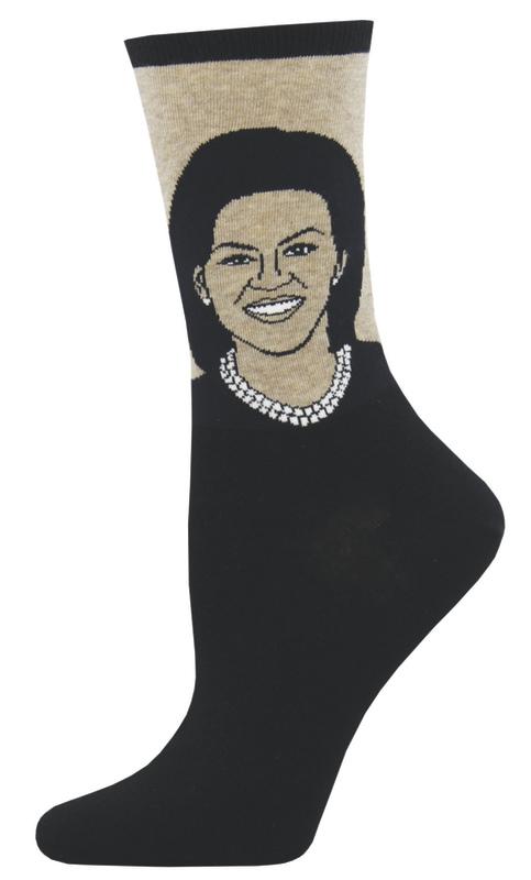 Socksmith: Women's Michelle Obama Crew Socks - Hemp Heather