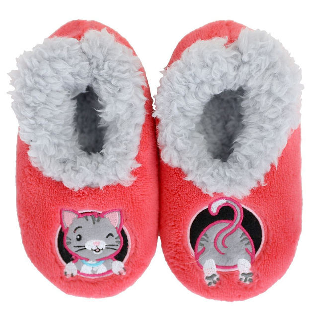 Slumbies: Cat Patch Pal - Toddler Slippers (Large)