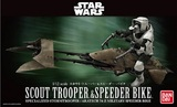 Star Wars: 1/12 Scout Trooper & Speeder Bike Model Kit