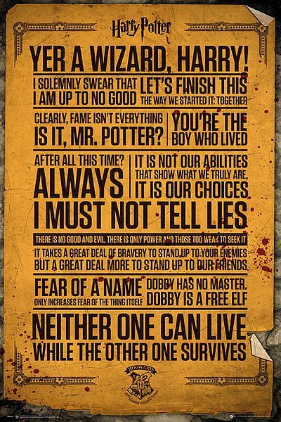 Harry Potter Maxi Poster - Quotes (535)