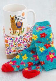 Natural Life: Gift Set Mug & Socks - Llove You Llots