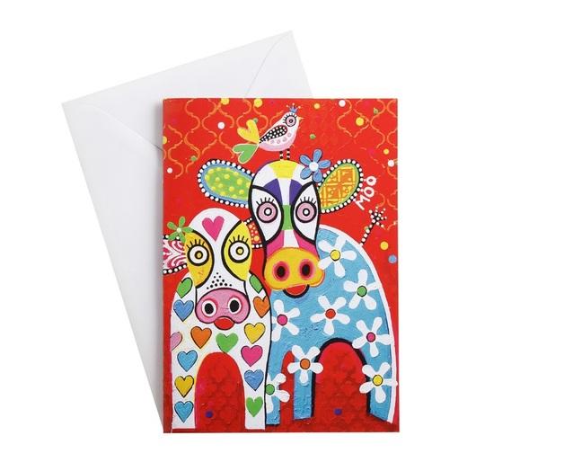 Maxwell & Williams: Love Hearts Greeting Card - Happy Moo Day