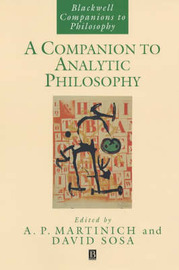 A Companion to Analytic Philosophy image