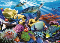 Ravensburger 200 Piece Jigsaw Puzzle - Ocean Turtles image