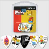 The Simpsons Guitar Picks Multi Pack 1 (Set 5)