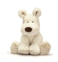 Teddy Cream Dog Small - White