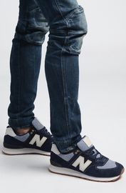 New Balance: Mens 574 Running Shoes - Dark Blue (Size US 8.5)