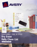 Avery Peel Stick Dry Erase Chore List