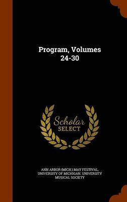 Program, Volumes 24-30