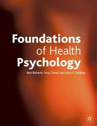 Foundations of Health Psychology by Ron Roberts image