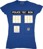 Doctor Who TARDIS Blue Women's T-Shirt (Large)