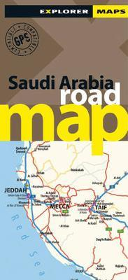 Saudi Arabia Road Map by Explorer Publishing and Distribution