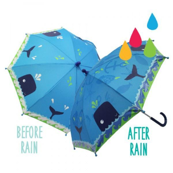 Colour Change Kids Umbrella - Whale image
