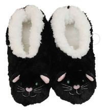 Slumbies Cat Furry Foot Pals Slippers (M)