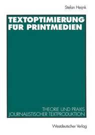 Textoptimierung Fur Printmedien by Stefan Heijnk