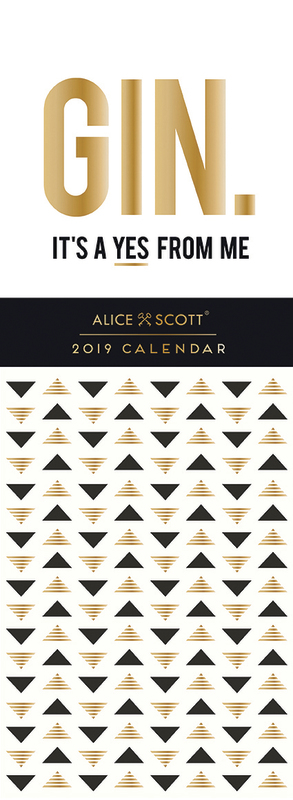 Alice Scott: Gin 2019 Slimline Calendar