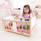 Hape Rock-a-bye Wooden Baby Cradle