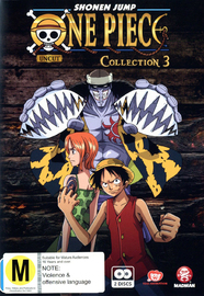 One Piece (Uncut) Collection 3 (2 Disc Set) on DVD