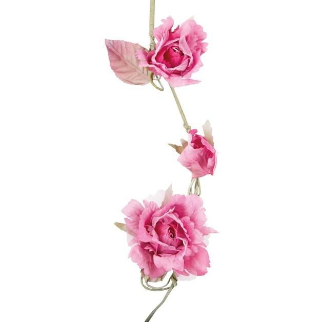 Vintage Rose Garland (Iris Pink)
