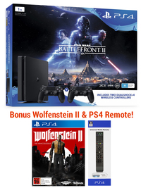 PS4 1TB Star Wars Battlefront II + 2 controllers bundle for PS4