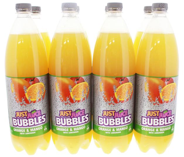 Just Juice Bubbles Orange & Mango (1.25L)