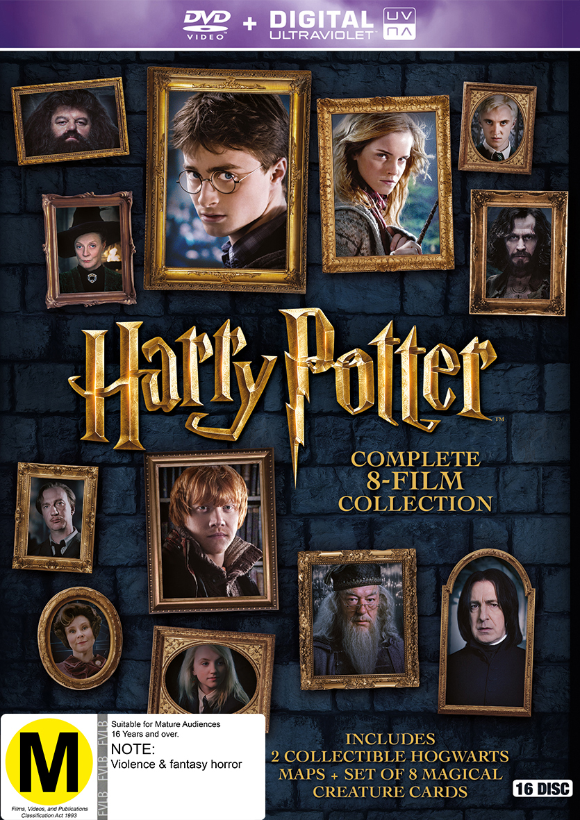 harry potter complete 8 film collection dvd in stock buy now at mighty ape nz. Black Bedroom Furniture Sets. Home Design Ideas