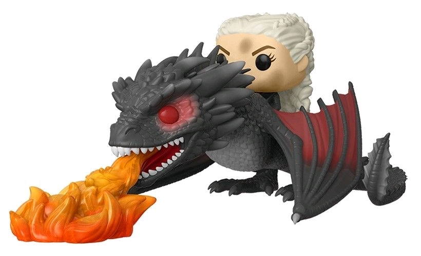 Game of Thrones - Daenerys & Drogon (Fiery) Pop! Rides Set image